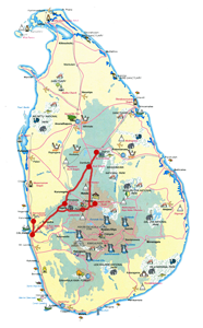 Схема маршрута бюджетного тура